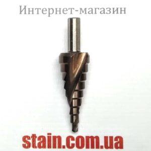 Ступенчатое сверло с кобальтом трехгранный хвостовик 4-20 мм
