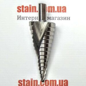 Ступенчатое сверло трехгранный хвостовик 4-32 мм 4241